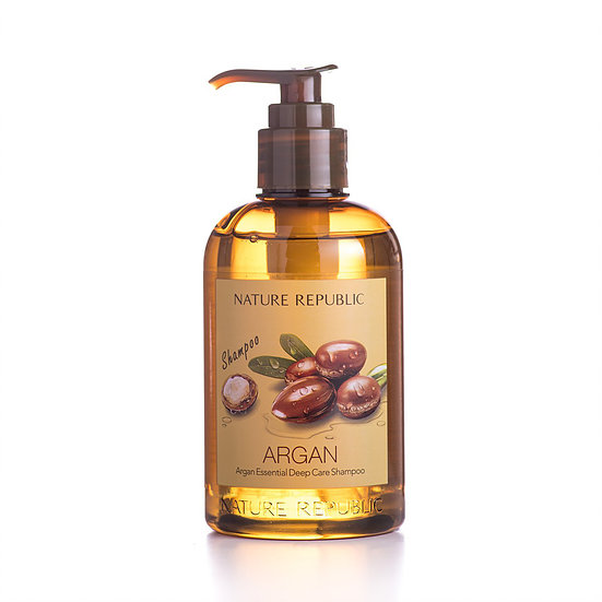Интенсивно восстанавливающий шампунь с маслом арганы Nature Republic Argan Essential Deep Care Shampoo