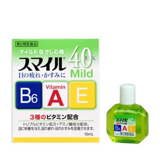 Японские витаминизированные капли для глаз Lion Smile 40 EX Mild  - купить по цене 650 в интернет магазине Корея Рядом
