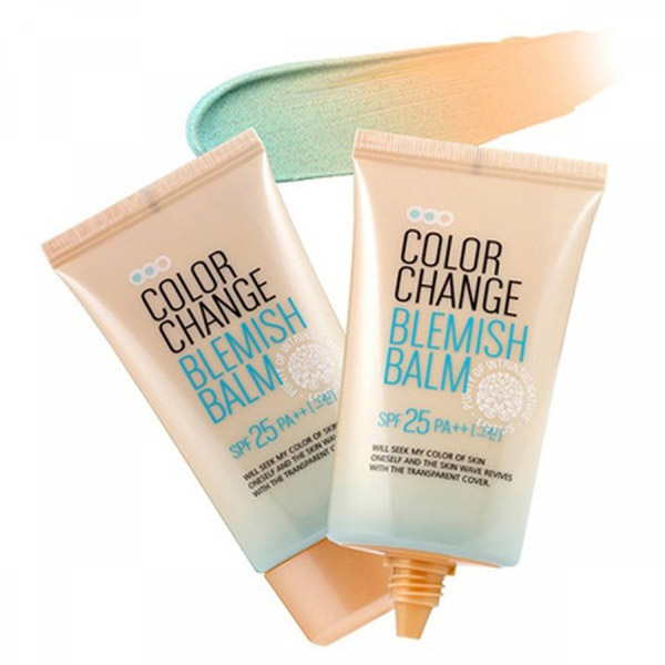 СС крем, меняющий цвет на коже SPF25 PA   Welcos Color change blemish balm SPF 25 PA