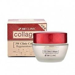 Крем д/лица с коллагеном рлифтинг эффект 3W CLINIC  Collagen Regeneration Cream, 60 мл