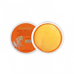 Гидрогелевые патчи FarmStay Horse Oil & Gold Hydrogel Eye Patch
