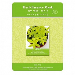 Тканевая маска для лица экстракты трав MJ Care Herb Essence Mask