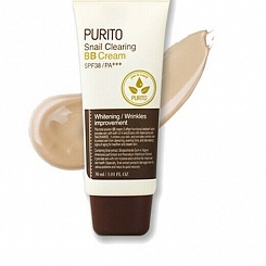 ББ крем c муцином улитки PURITO Snail Clearing BB cream(30 мл)27 Sand beige