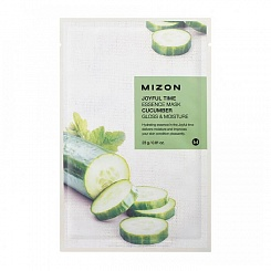 Тканевая маска для лица с экстрактом огурца MIZON  Joyful Time Essence Mask Cucumber 23 мл