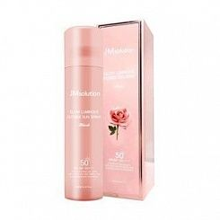 Солнцезащитный спрей для лица с розой JMSolution Glow Luminous Flower Sun Spray Rose SPF50+180 мл