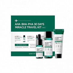 Набор средств SOME BY MI AHA.BHA.PHA 30 Days Miracle TRAVEL Kit (тонер,сыв-ка,крем)