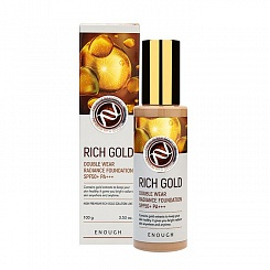 Омолаживающий тональный крем ENOUGH Rich Gold Double Wear Radiance Foundation SPF50+ PA+++